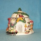 1998 Debbie Mumm Sakura Christmas Igloo Honey Jam Pot