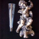 Department 56 Angel Cherub Fairy With Glass Vase