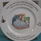 Wedgewood PETER RABBIT Beatrix Potter Bedtime Plate