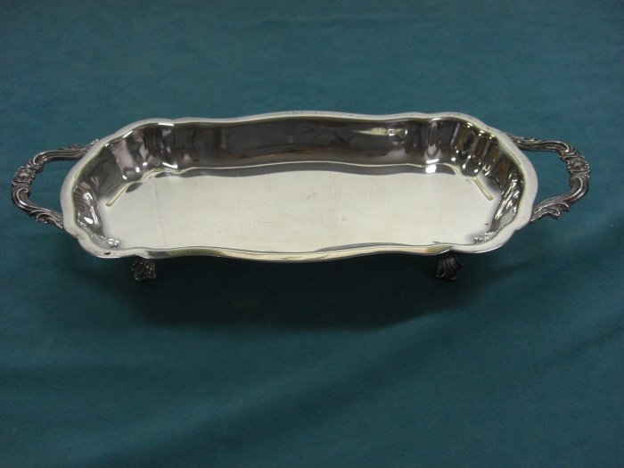 F. B. Rogers Silver Plate Footed Hors D'oeuvres Dish