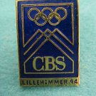 '94 Winter Olympic Games / Lillehammer  CBS  Pin