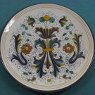 "Deruta-Italy  Pottery Ricco Fruit Italian 10"" Plate"