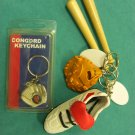BASEBALL Keychain Key Ring  (Five)
