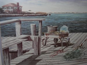 "CHRISTY EDWARDS Signed  ""Pier Deck"""