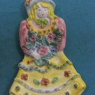 Italian Flower Doll Ceramic Plate