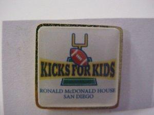 Ronald Mcdonalds Kicks for Kids Pin