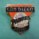 San Diego Padres Enamel Baseball Club Pin