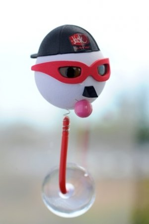 """New Jack In The Box Pencil Topper  Antenna Ball """"Cool Biker"""""""
