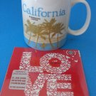 Starbucks CALIFORNIA Global Series Mug 2009 & LOVE CD    #B1