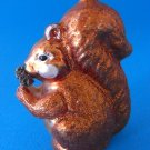 Busy Squirrel Glass Christmas Ornament