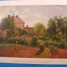 The Artist&#39;s Garden at Eragny by Camille Pissarro Art Print