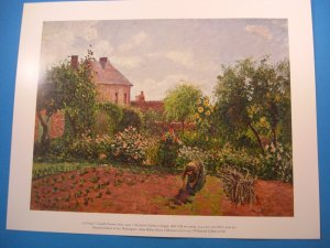 The Artist's Garden at Eragny by Camille Pissarro Art Print