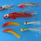 Seven Pieces Lures Red Face/ Tail Fishing Lures