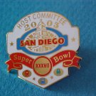2003 San Diego Super Bowl XXXVII Host Committee Lapel Clutch Pin