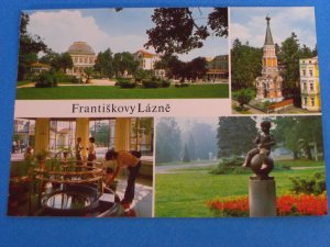 Františkovy Lázn� Postcard from Czech Republic