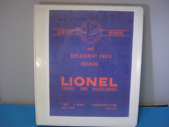 Lionel Train Manual Service And Parts Replacement Manual