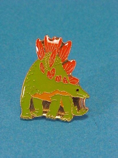 Enamel Dinosaurs Lime Green/Orange Pin