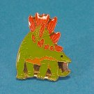 Enamel Dinosaurs Lime Green/Orange Pin