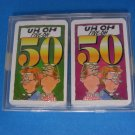 Uh-Oh Five-Oh 50 Two Decks Comic Playing Cards