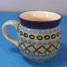 Unikat Polish Pottery Bubble Stoneware Mug #485 by Anna Pasierbiewicz