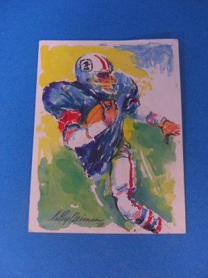 Vintage Superbowl XXII 1988 USA Postcard LeRoy Neiman