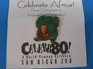 San Diego Zoo Celebrate Africa ! Lapel Pin