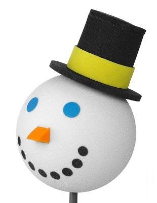 SNOWMAN Jack In The Box Antenna Topper Ball