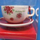 Starbucks Holiday 2007 Cup & Saucer Christmas Ornament