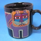 Laurel Burch Black Striped Tiger Mug Signed