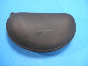 CARRERA Sunglasses Black Clam Shell Hard Zipper Case