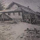 Pen & Ink Detail The Hansen Barn 1908 San Marcos Hand Print