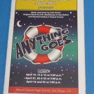 ANYTHING GOES April 2011 Mount Carmel High School San Diego PLAYBILL