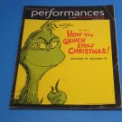 Dr Seuss&#39; How The Grinch Stole Christmas ! Dec. 2005 The Old Globe Theatre PLAYBILL