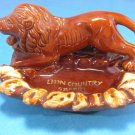 Large  Lion Country Safari Souvenir Vintage Ashtray Japan Ceramic Porcelain