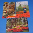 Holland Postcards Lisse Gardens & Ratterman Klompenmakerij Amstelveen Woodshoe Makers