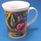 Queens Fine Bone China Mug by Churchill With Gaugin Pattern