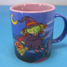 Broom-Flying Friendly Little Witch Avon Ceramic Halloween Mug