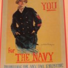 I Want You For The Navy Christy 1917 Poster Postcard