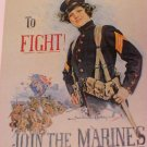 Join The Marines  Christy 1918 Poster Postcard