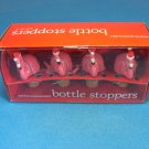 Boston Warehouse  Key West Pink Flamingo Holiday Bottle Stopper 4 Pieces