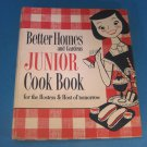 Better Homes and Gardens BHG Jr. Junior Cook Book 1955 First Edition