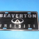 Beaverton Infiniti Black & Chrome License Plate