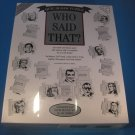 Who Said That? Quiz Jigsaw Puzzle 504 Piece - 1994 New