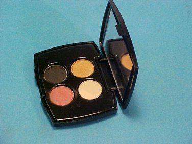 New Lancome Late, Bikini Golden Visionary, Statuesque 0.05oz (1.52g) Eye Shadows Sample Size Quad