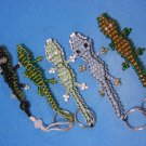 Alligator Lizard Key Rings & Dangle Five Pieces