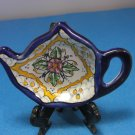 Ansar Pottery Teapot Shaped Teabag Holder Tea Bag Caddy