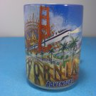 Disney California Adventure Park Blue Ceramic Mug