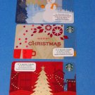 Starbucks Cards Christmas 2013 & Frosty