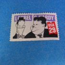 Laurel & Hardy Comedians - 1991Single Stamp USA  29c