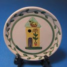 Yellow Birdhouse Small Hand Painted Souvenir Dish